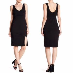 Alexia Admor Black Slit Front Dress